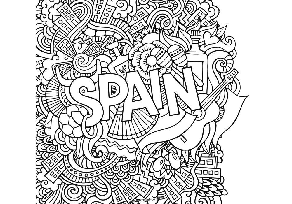 Raskraska Antistress Ispaniya Skachat Antistress Raspechatat Antistress Raskraski Knizhka Raskraska Detskie Raskraski