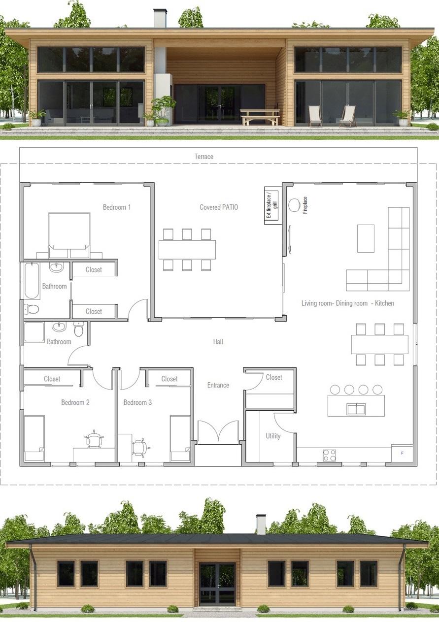 Small House Plan Ch493 Modular Home Plans Craftsman House Plans Prefab Homes