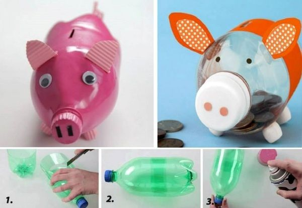 Diy Piggy Banks Piggy Bank Diy Diy Plastic Bottle Bottle Crafts