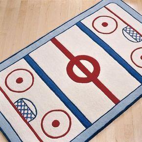Hockey room for baby boy!