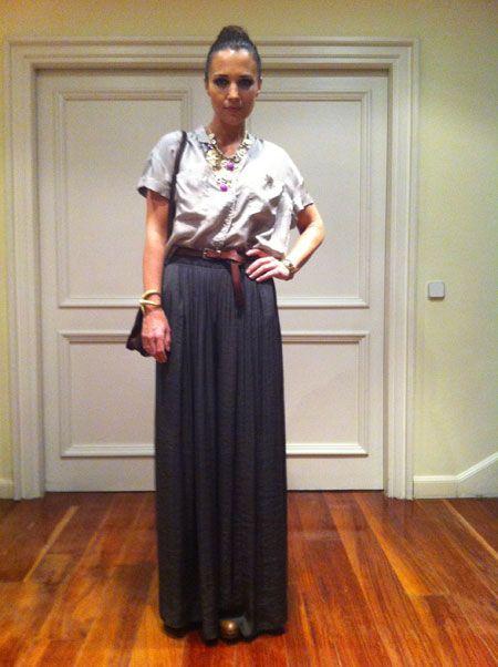 Como combinar falda larga  638fafaf85ef