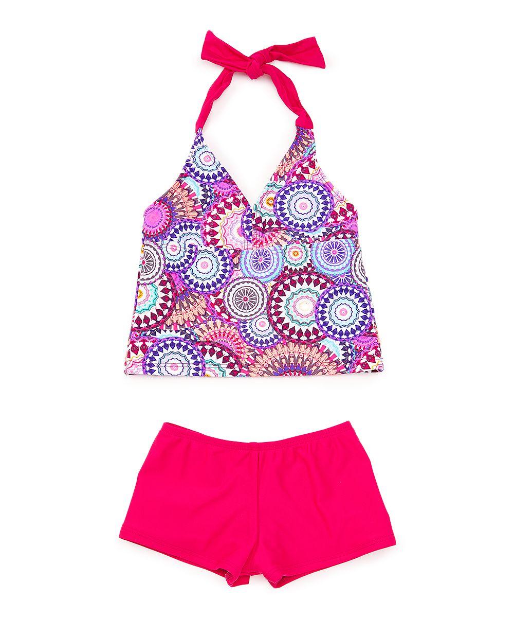 509b390c44 Multi-Color Halter Tankini & Boyshorts - Toddler & Girls | Products ...