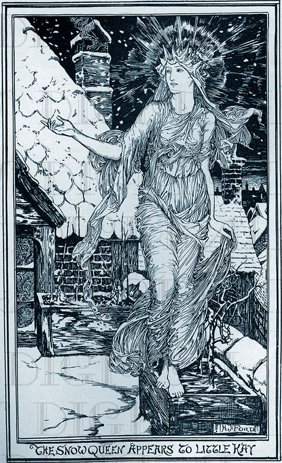 Fabulous VICTORIAN Snow QUEEN Vintage Digital Illustration. Digital Vintage Fairy Tale. Digital Winter/Christmas Download.