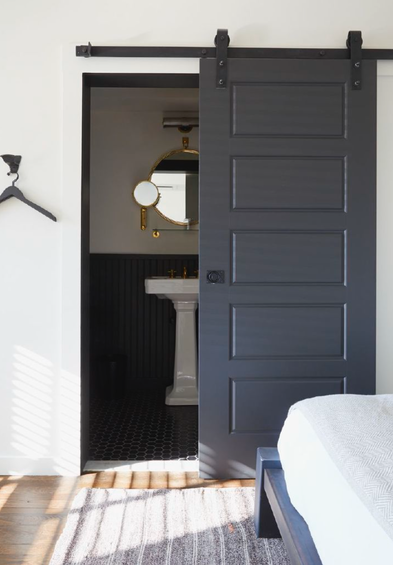 the little house in the city: Apartment Renovation: Barn Door Solution