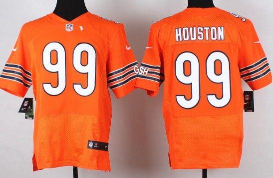 New Nike Chicago Bears #99 Lamarr Houston Orange Elite Jersey | NFL  hot sale