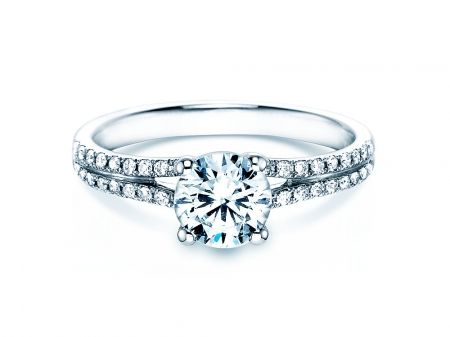 Verlobungsring Dynasty In 18k Weissgold Mit Diamant 1 27ct Jewelry