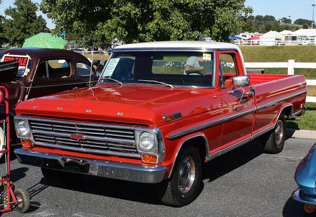1968 Ford F 100 Ranger Stlyleside Pickup Classic Ford Trucks Ford Pickup Trucks Classic Cars Trucks