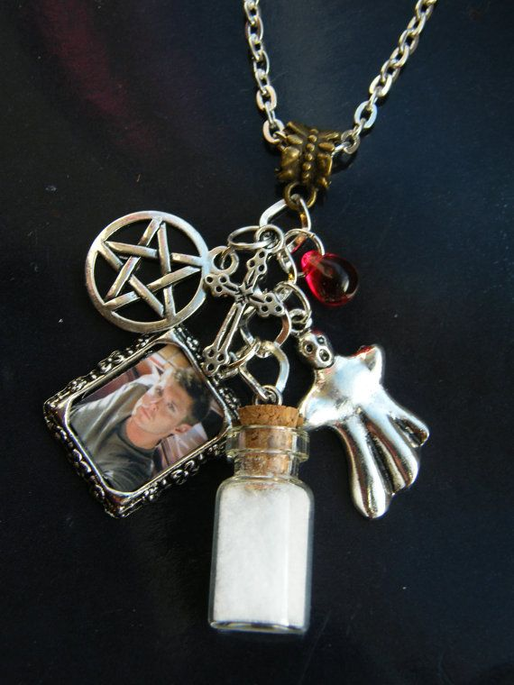 d2378757bd9b Supernatural charm necklace dean winchester... omg WANT ...