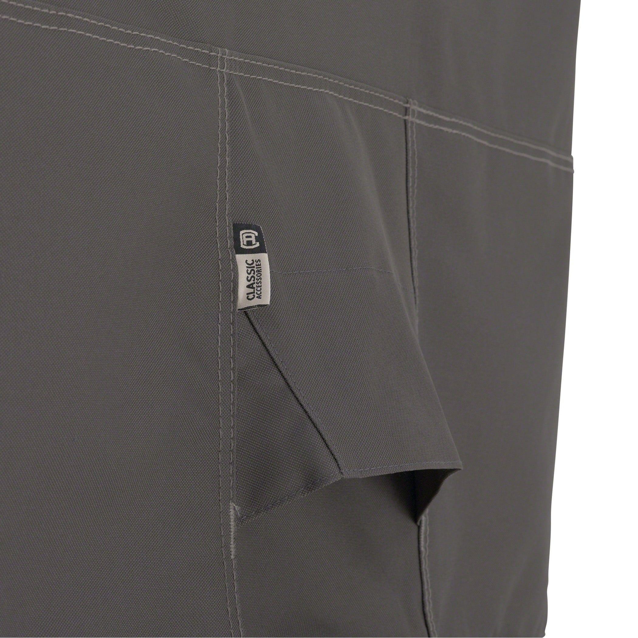 Classic Accessories Ravenna Patio Umbrella Cover Grey Polyester