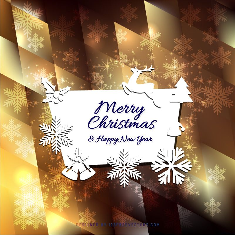 Merry Christmas And Happy New Year Greeting Card Template  Https