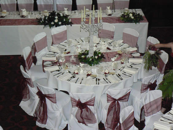 Burgandy Wedding Details About 10 Burgundy Organza Table Runners Decoration 2 5