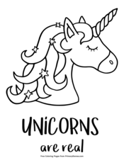 Unicorns Are Real Unicorn Coloring Pages Coloring Pages To Print Coloring Pages
