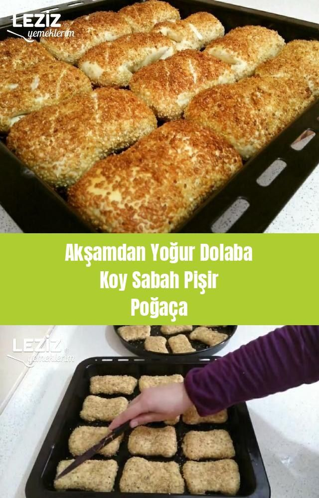 Akşamdan Yoğur Dolaba Koy Sabah Pişir Poğaça #dessertrecipes