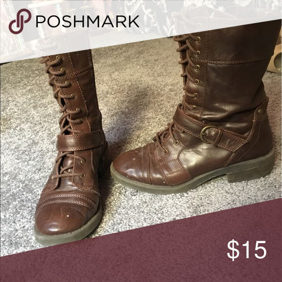 Combat boots Have been worn but are in great condition! Shoes Combat & Moto Boots