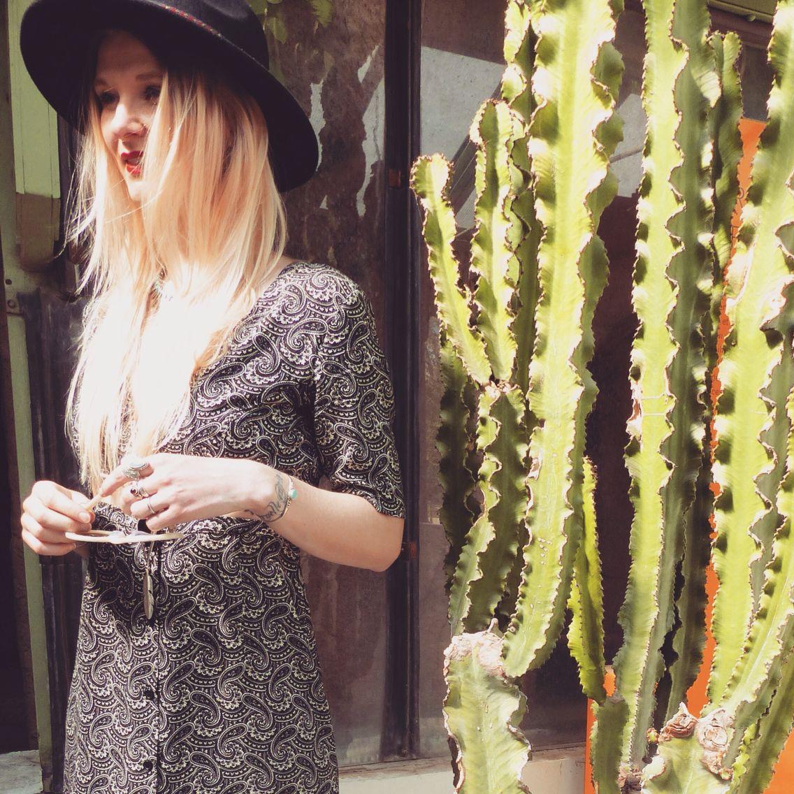 #cactus #cactuslover #plantlover #boho #boheme #wild #wildandfree #paris #blondgirl #asos #bohogirl #mode #style #look  #arizonadream #jardindesplantes #hat