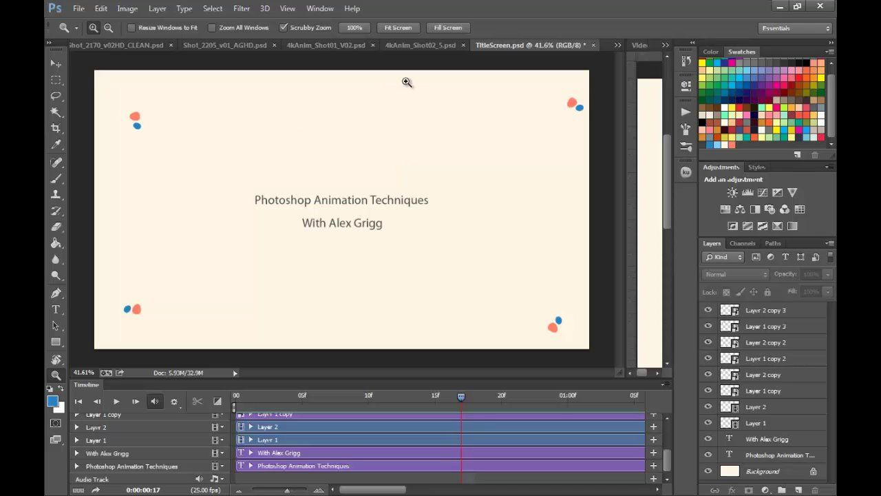 Photoshop Animation Techniques Redux Creative Cloud Http Www Alexgrigg Com Http Animation In Photoshop Photoshop Animation Tutorial Animation Tutorial