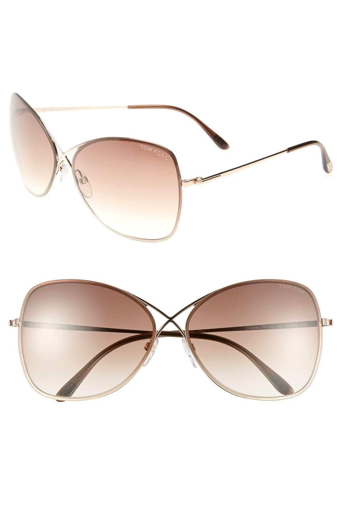 Tom Ford Colette 63mm Oversize Sunglasses