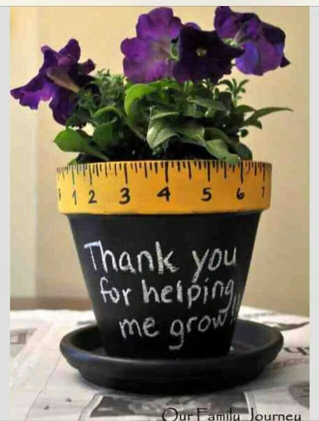 Great gift for teachers.... helping me grow planter