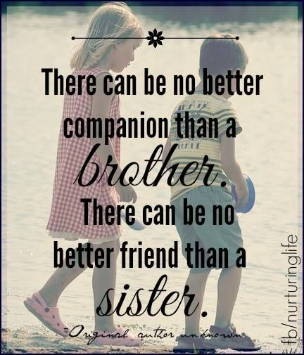 Brother/Sister … | Brother quotes, Sister quotes, Sibling quotes