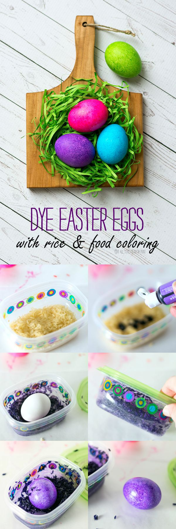 Dye Easter Eggs With Rice & Food Coloring | Easter crafts ...