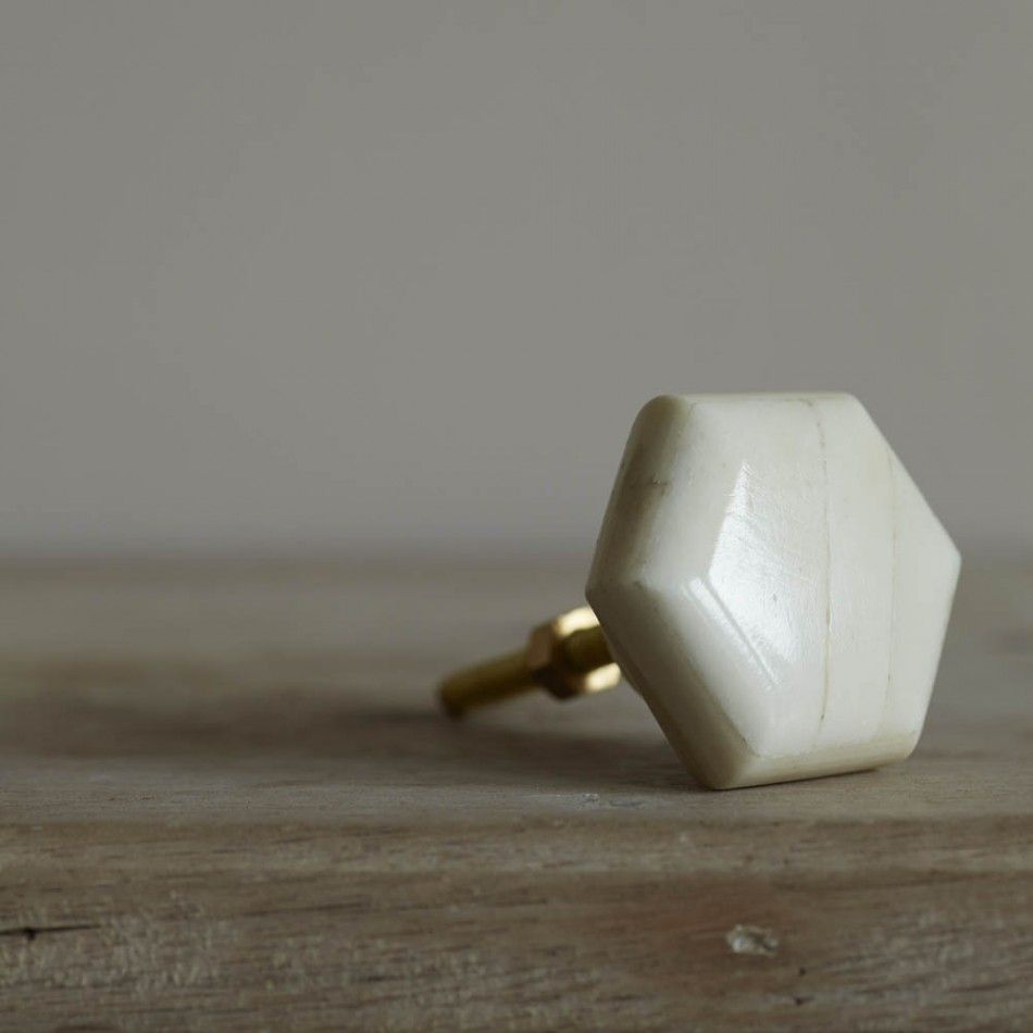 Hexagonal Bone Door Knob | Door knobs, Doors and Bedrooms