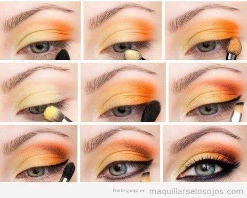 Orange Eye Makeup Tutorial Step By Step Orange Eye Makeup