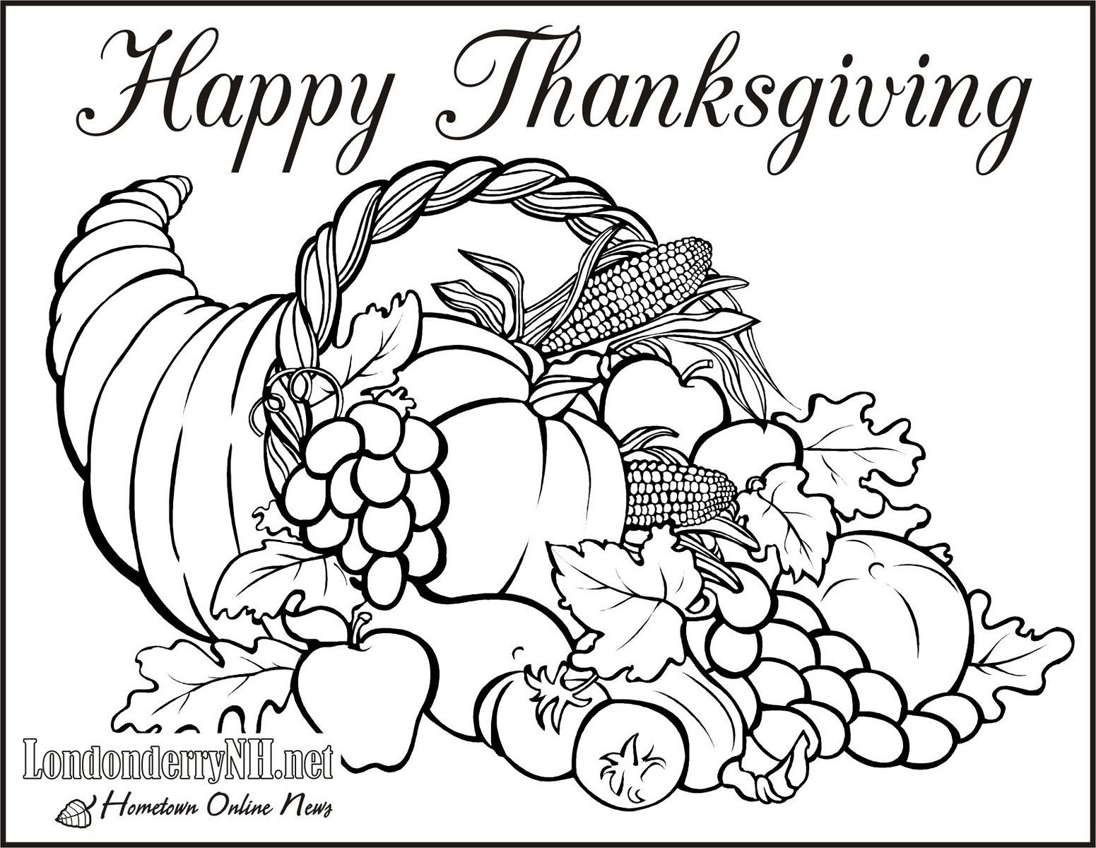 Thanksgiving Coloring Pages | Forcoloringpages.com | Library ...