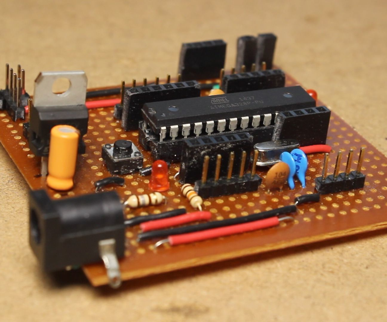 How To Make Your Own Arduino Uno Board Breadboard Veroboard Circuit Images Programming