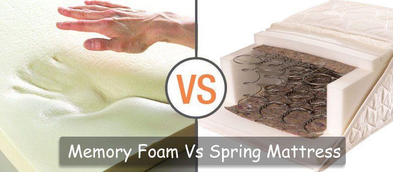 Memory Foam Vs. Spring Mattress: Mattress Comparison