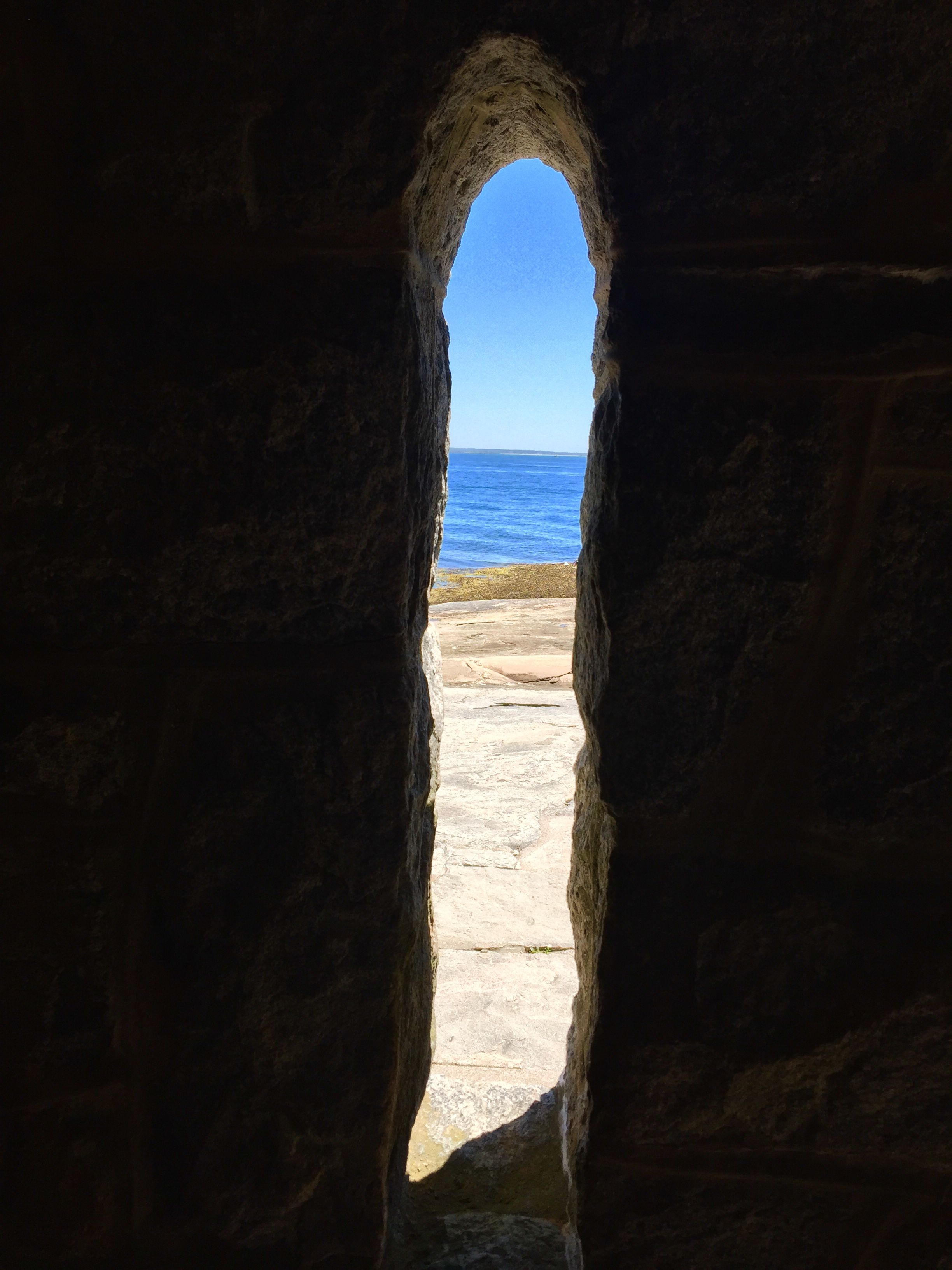 Chapel Window By The Sea On Enders Island Ct