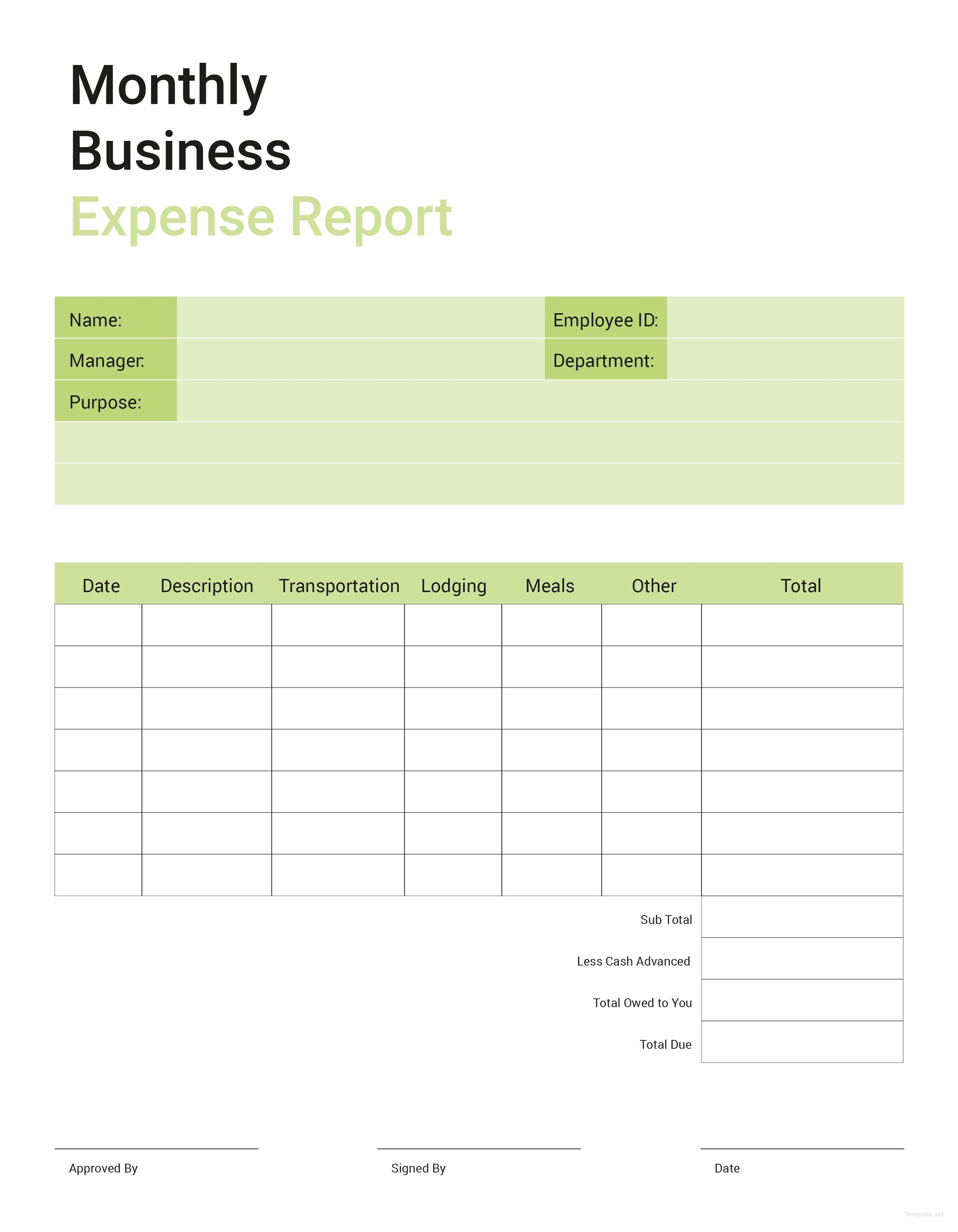 Monthly Expense Report Download Business Expense Report Template For Free In Illustrator .