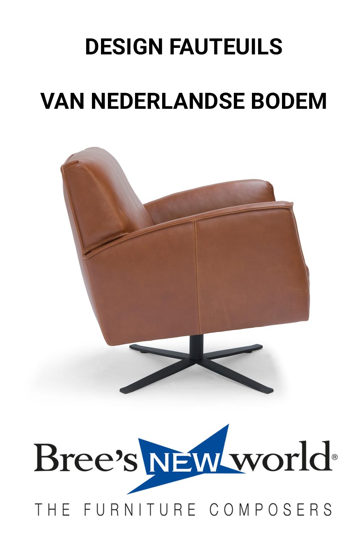 Fauteuil Design Leer.Dutch Design Fauteuils En Draaifauteuils Van Bree S New World In