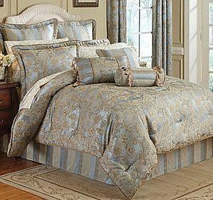 Croscill Iris Bedding Collection Nicolette | Croscill NICOLETTE/Napoleon King COMFORTER Bedskirt & Pillow Shams 4PC ...