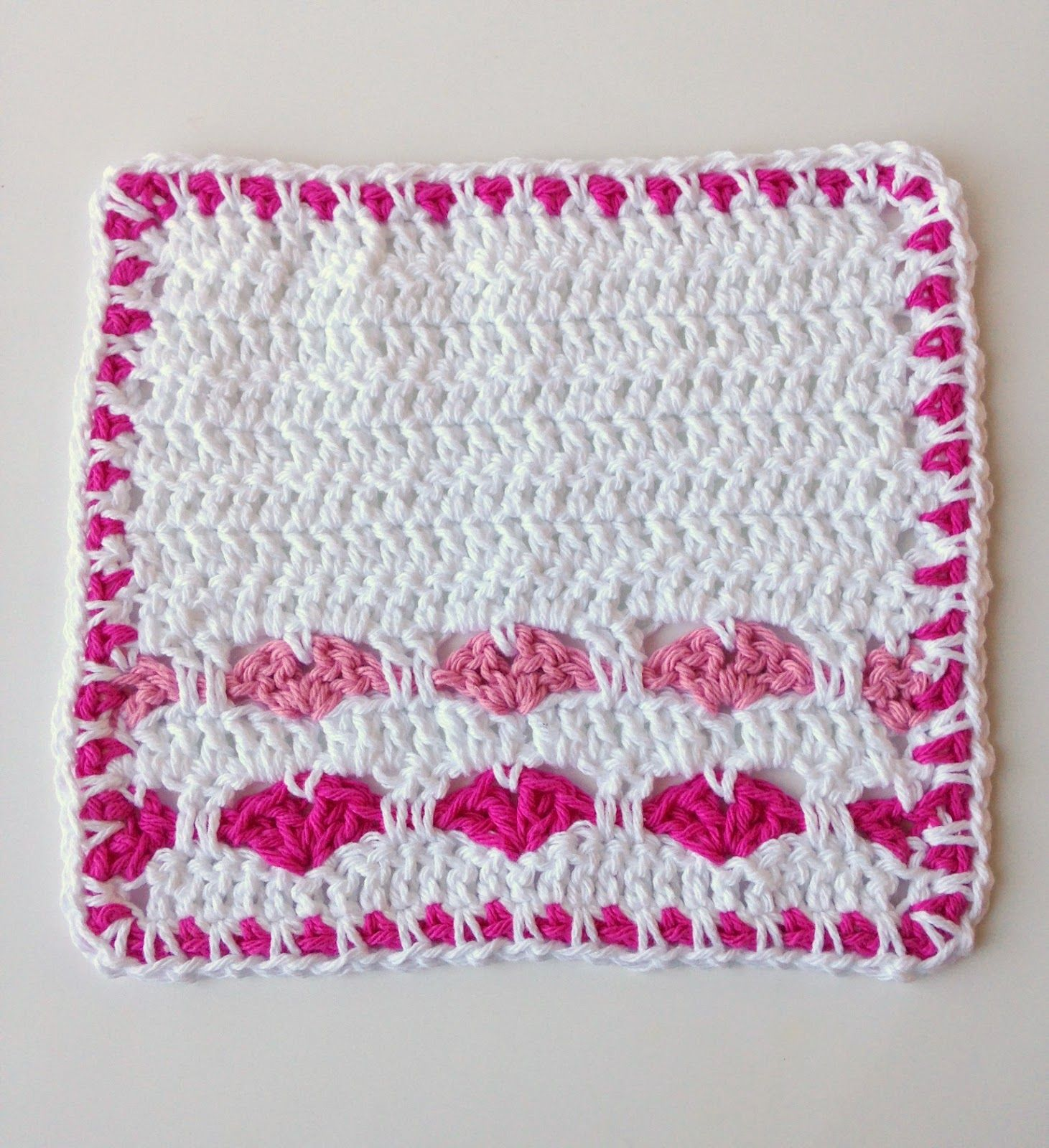 5 Little Monsters: Valentine Dishcloth Collection: #4 Heart Rows ...