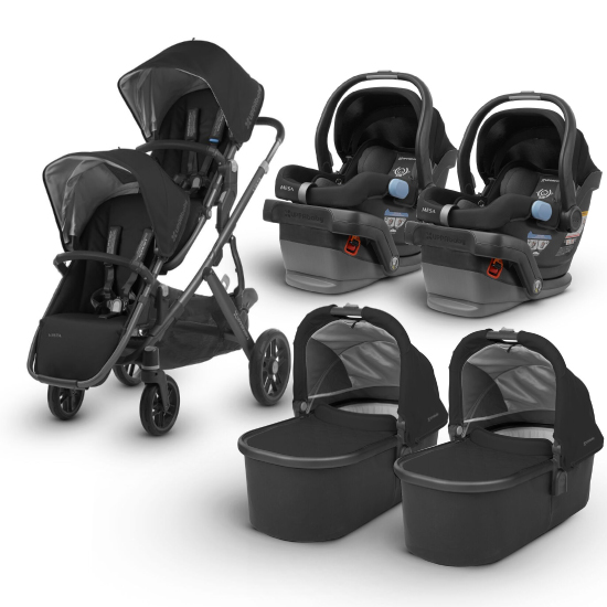 Uppababy 2018/2019 Vista Twin Travel System In Jake Black