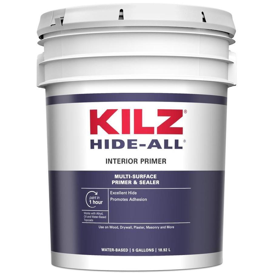 Kilz Hide All Interior Multi Purpose Water Based Wall And Ceiling Primer Actual Net Contents 5 Gallon 520005 In 2020 Primer