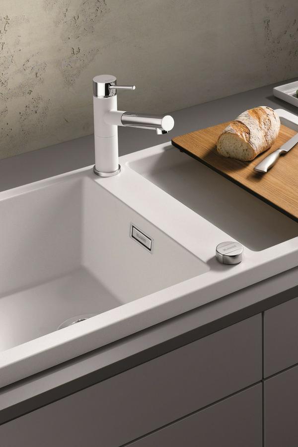 Spüle küchenspüle einbauspüle weiß weißes waschbecken küche keramik granit