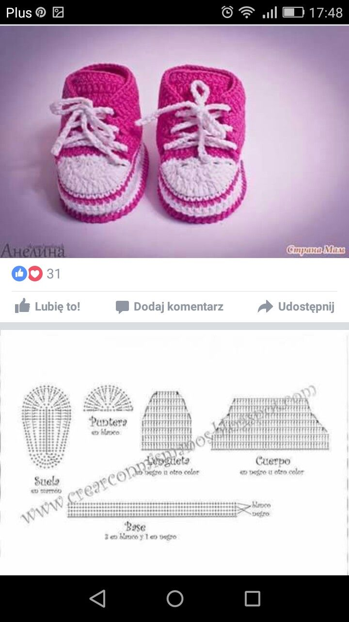 Tenis crochê | crochet | Pinterest | Bebé, Bebe y Zapatos