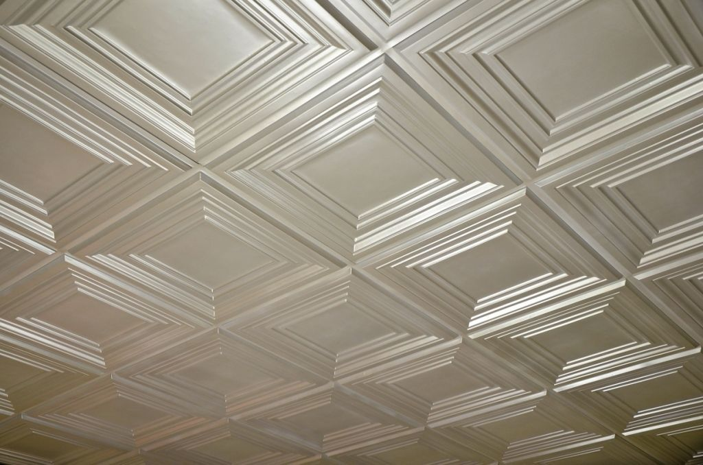 Faux Tin Ceiling Tile Td05 Pearl White Glue Up Or Drop In