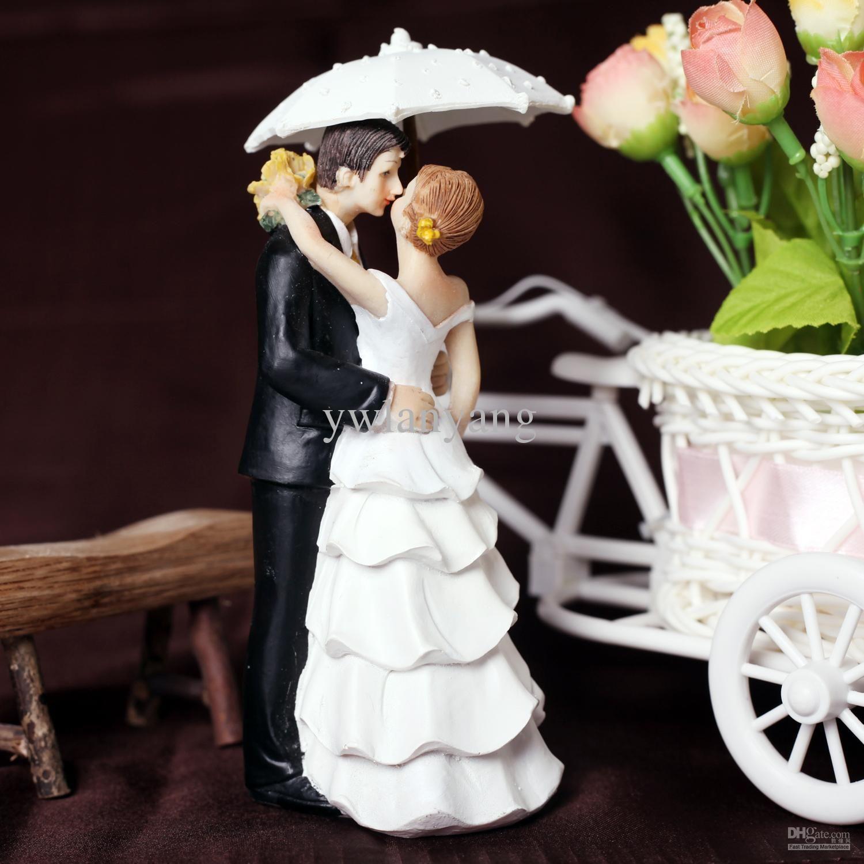 Dancing In The Rain Wedding Cake Topper Reception Food