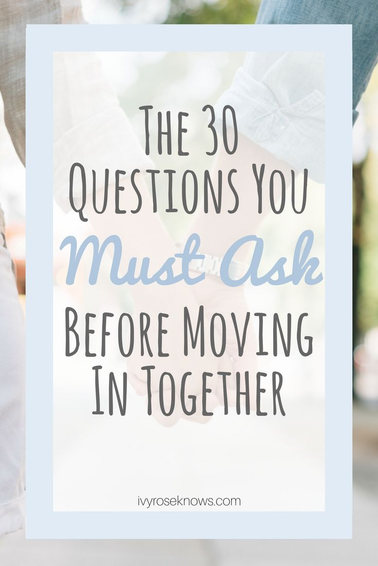 Questions To Ask Before Living Together