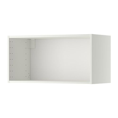 Best Metod Wall Cabinet Frame White 80X37X40 Cm Glass 400 x 300