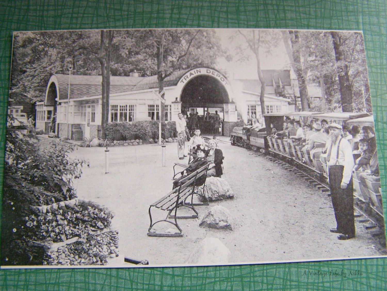 Vintage Postcard - Unused Unstamped - House of David Benton Harbor, Michigan, House of David Train Depot Black & White Photographic Postcard by AVintageLifeByNikki on Etsy
