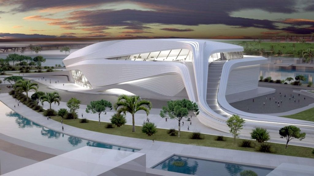 Le grand th tre du rabat au design moderne par zaha hadid for Architecture marocaine