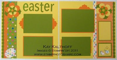 Stamping to Share: 3/2 Stampin' Up A Good Egg 12x12