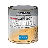 Ronseal Diamond Hard Floor Varnish Hard Wearing Clear Varnish Hard Floor Flooring How To Varnish Wood