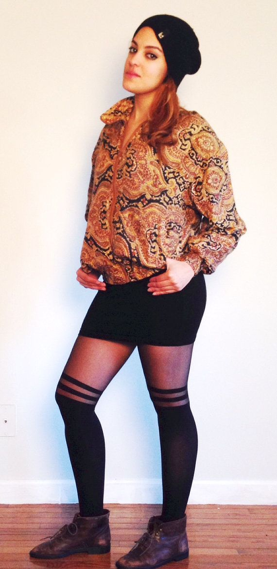Vintage 1990s Lady Bear Silk Bomber Jacket by QueenBAccessories1, $65.00
