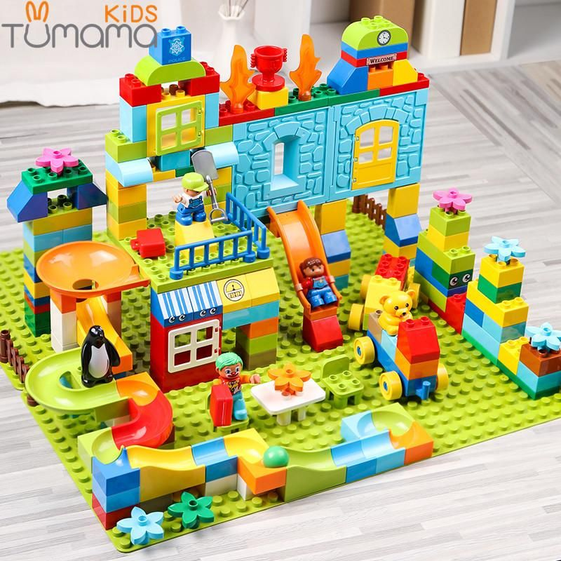 Big Size Building Blocks 160 211pcs Amusement Park Marble
