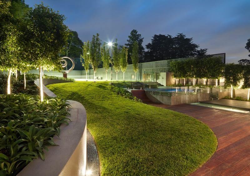 Elegant Idée Sur Lu0027utilisation Des Spots LED Extérieurs Dans Le Jardin Moderne