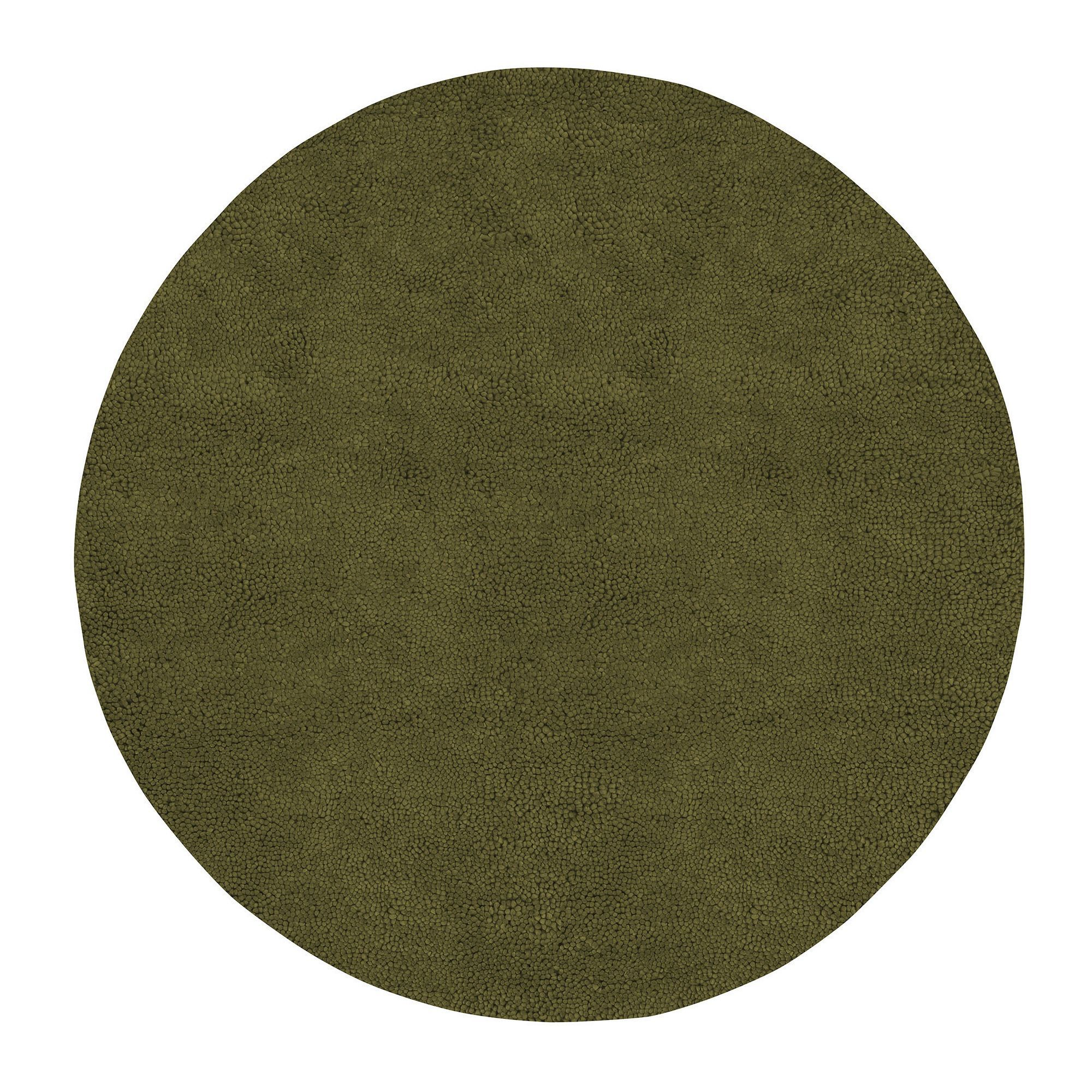 Hand-woven Holley New Zealand Felted Wool Shag Area Rug (10' Round) (Sage-(10' Round)), Green, Size 10' (Natural Fiber, Solid)